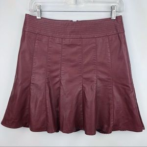 Anthropologie HD in Paris Vegan Leather Skirt -EUC